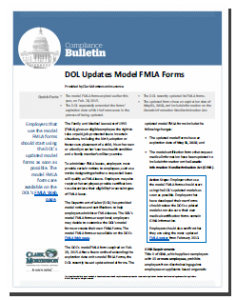 DOL Updates Model FMLA Forms