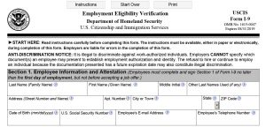 New Version of Form I-9 Released