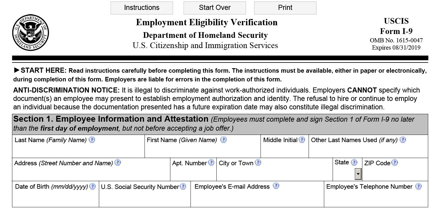 form i-9 to print  Form I-11 and Your Employees | Clark-Mortenson Insurance